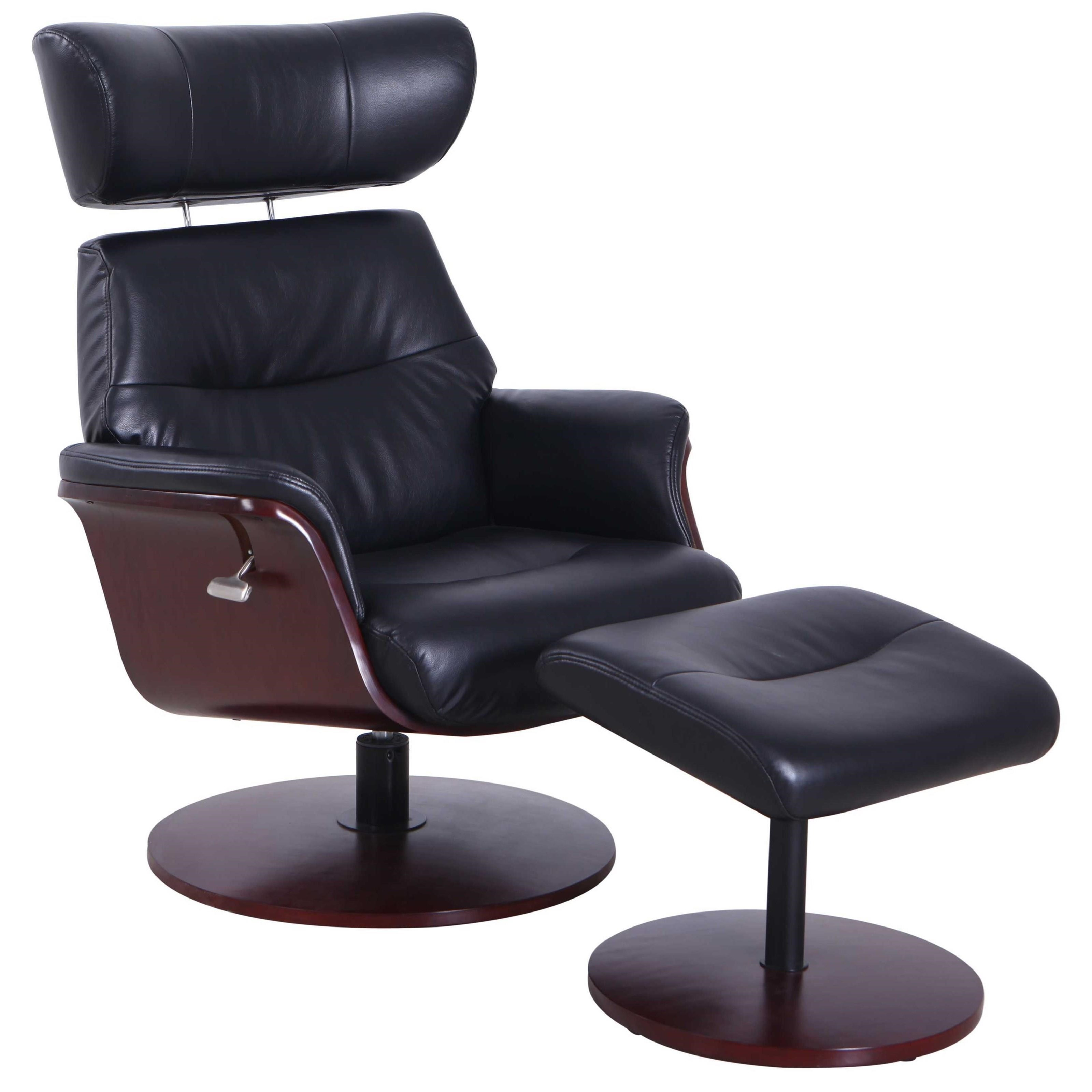 Sennet Reclining Swivel Chair and Ottoman at Sadler's Home Furnishings