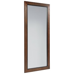 Standing Wood Framed Mirror with Milk Crate Finish