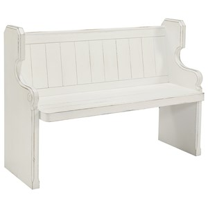 Pew Bench with Scrolled Arms