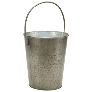 Small Metal Milk Bucket with Wire Bail Handle