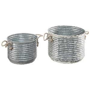Apple Buckets with Rope Handles