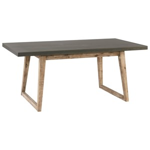 Hiatus Dining Table with Concrete Top