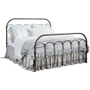Queen Colonnade Metal Bed