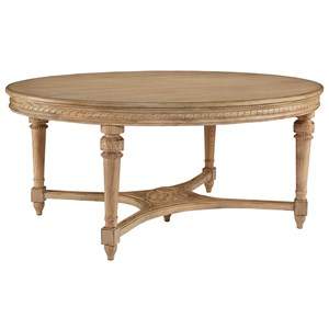 Oval Antique Dining Table with Wheat Finish