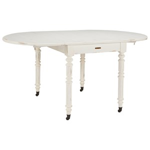 Oval Drop Leaf Table with Shiplap Top