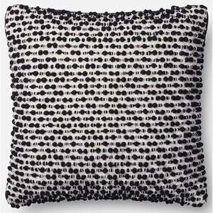 "18"" X 18"" Cover w/Down White / Black Pillow"