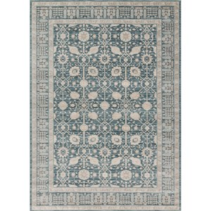 "2' 7"" X 4' Machine-Made Dk Blue / Dk Blue Traditional Rectangle Rug"
