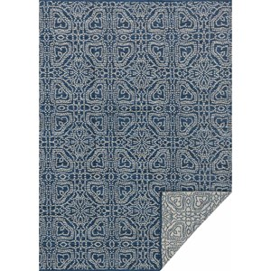 "3' 6"" x 5' 6"" Hand Woven Navy / Cream Transitional Rectangle Rug"