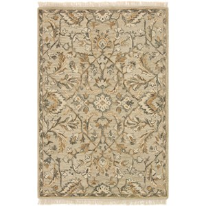 """7' 9"""" x 9' 9"""" Hand-Made Neutral Traditional Rectangle Rug"""