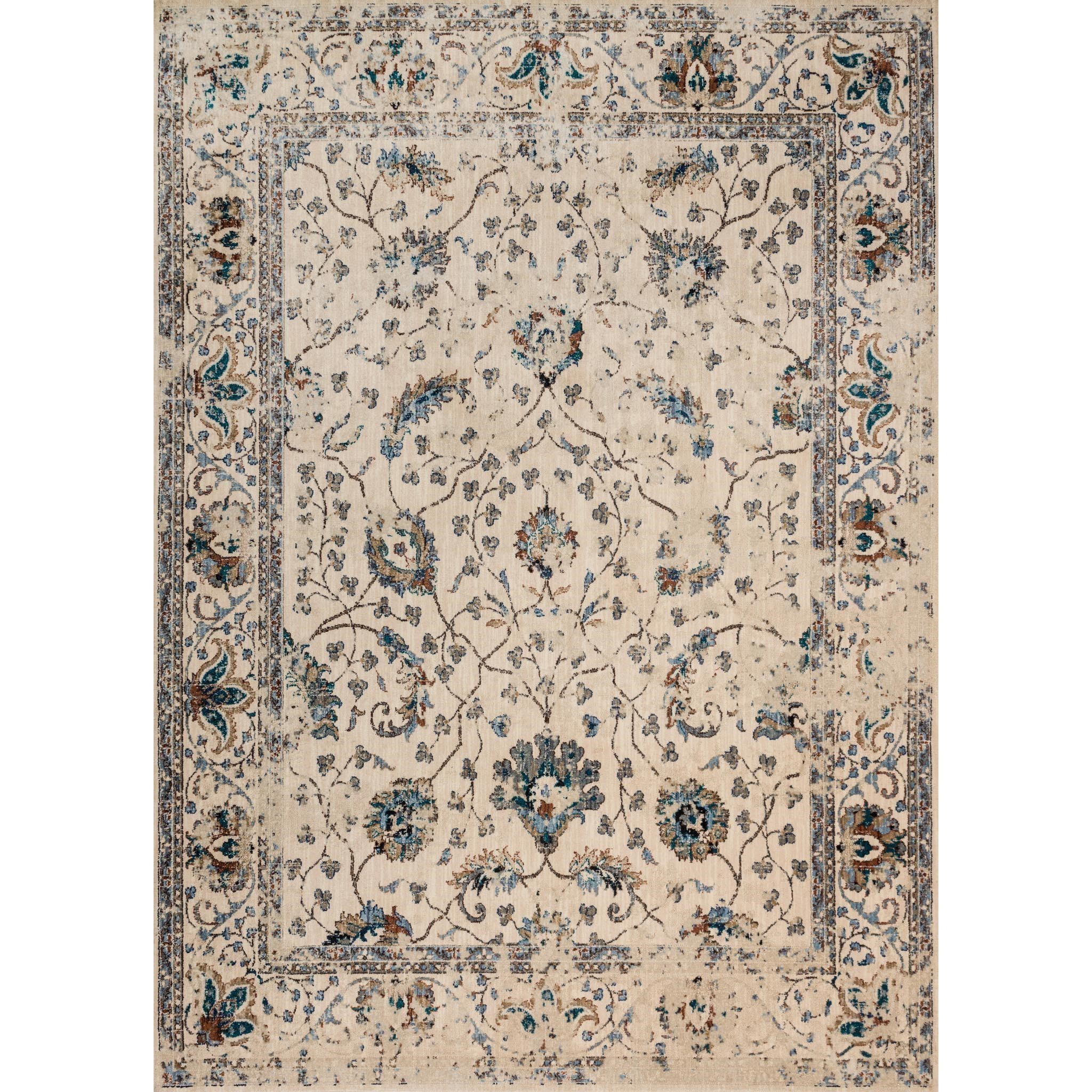 """Kivi 6' 7"""" X 9' 2"""" Rectangle Rug by Magnolia Home by Joanna Gaines for Loloi at Belfort Furniture"""