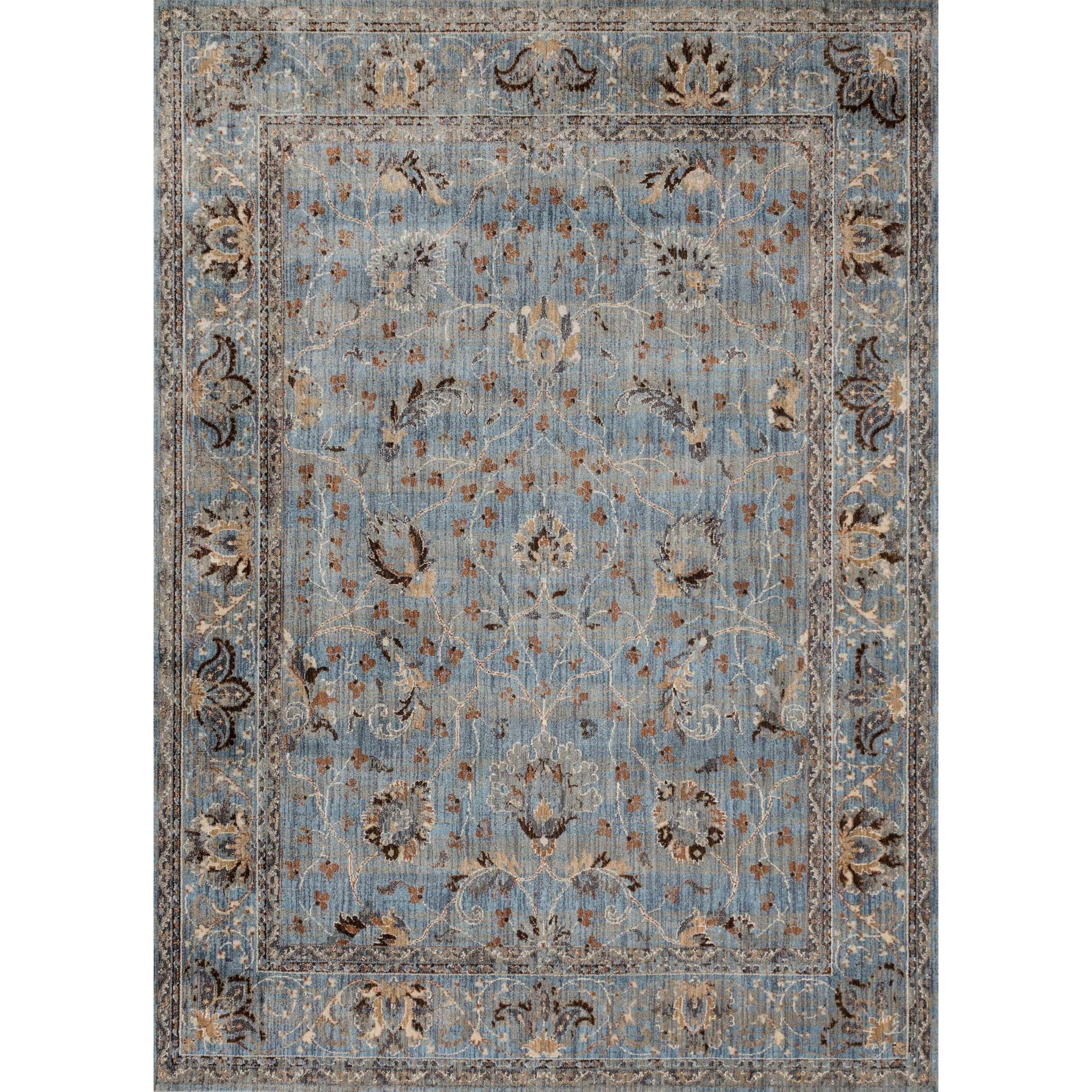 "Kivi 5' 3"" X 5' 3"" Round Rug by Magnolia Home by Joanna Gaines for Loloi at Belfort Furniture"