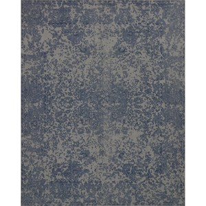 "7' 9"" x 9' 9"" Machine-Made Blue Traditional Rectangle Rug"