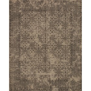 "7' 9"" x 9' 9"" Machine-Made Beige Traditional Rectangle Rug"
