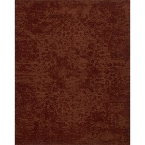 "7' 9"" x 9' 9"" Machine-Made Rust Traditional Rectangle Rug"