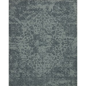 "7' 9"" x 9' 9"" Machine-Made Teal Traditional Rectangle Rug"