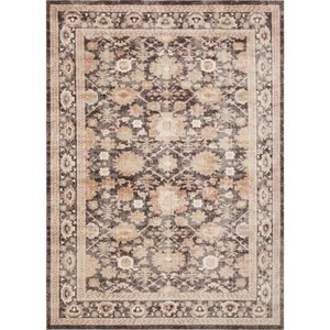 "7' 10"" x 10' 10"" Machine-Made Mocha Traditional Rectangle Rug"