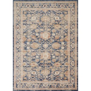 "7' 10"" x 10' 10"" Machine-Made Navy Traditional Rectangle Rug"