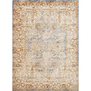 "7' 10"" x 10' 10"" Machine-Made Blue / Multi Traditional Rectangle Rug"