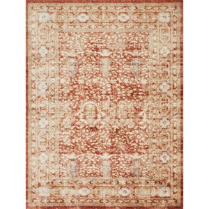 "7' 10"" x 10' 10"" Machine-Made Terracotta Traditional Rectangle Rug"