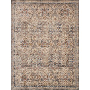 """7' 10"""" x 10' 10"""" Machine-Made Taupe / Multi Traditional Rectangle Rug"""