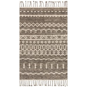 """2' 0"""" x 3' 0"""" Hand-Knotted Ash / Ivory Transitional Rectangle Rug"""