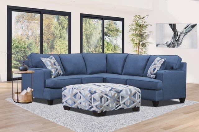 1650 Indigo Indigo Two Piece Sectional by Magnolia Upholstery Design at Furniture Fair - North Carolina