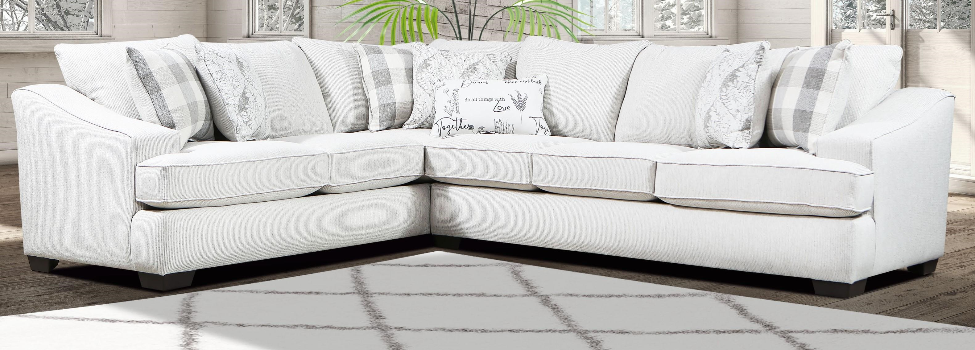 9995 Two Piece Sectional by Magnolia Upholstery Design at Furniture Fair - North Carolina
