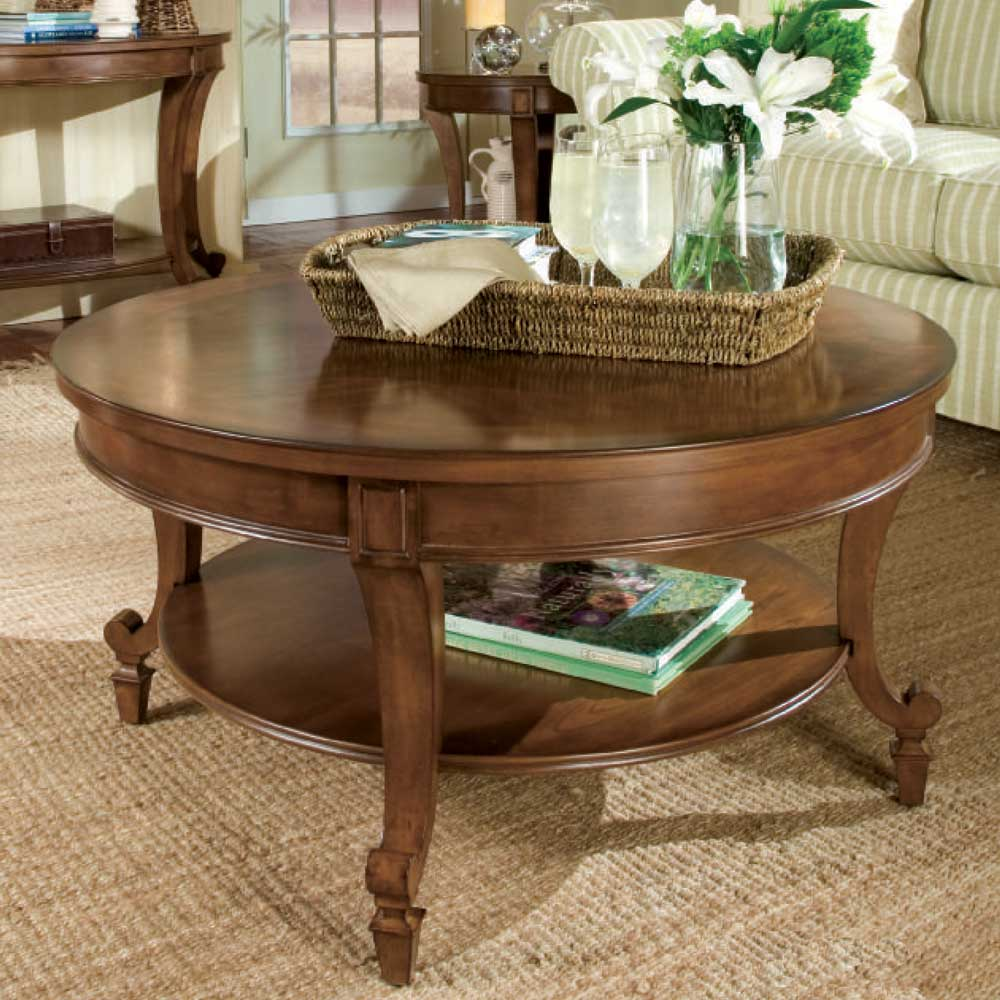 Aidan Round Cocktail Table by Magnussen Home at Mueller Furniture