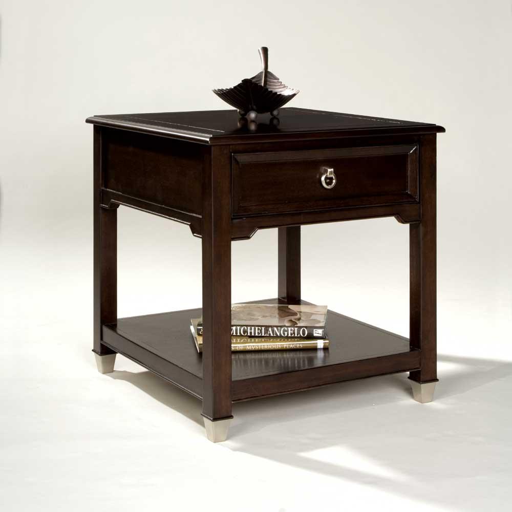 Darien Rectangular End Table by Magnussen Home at Bullard Furniture