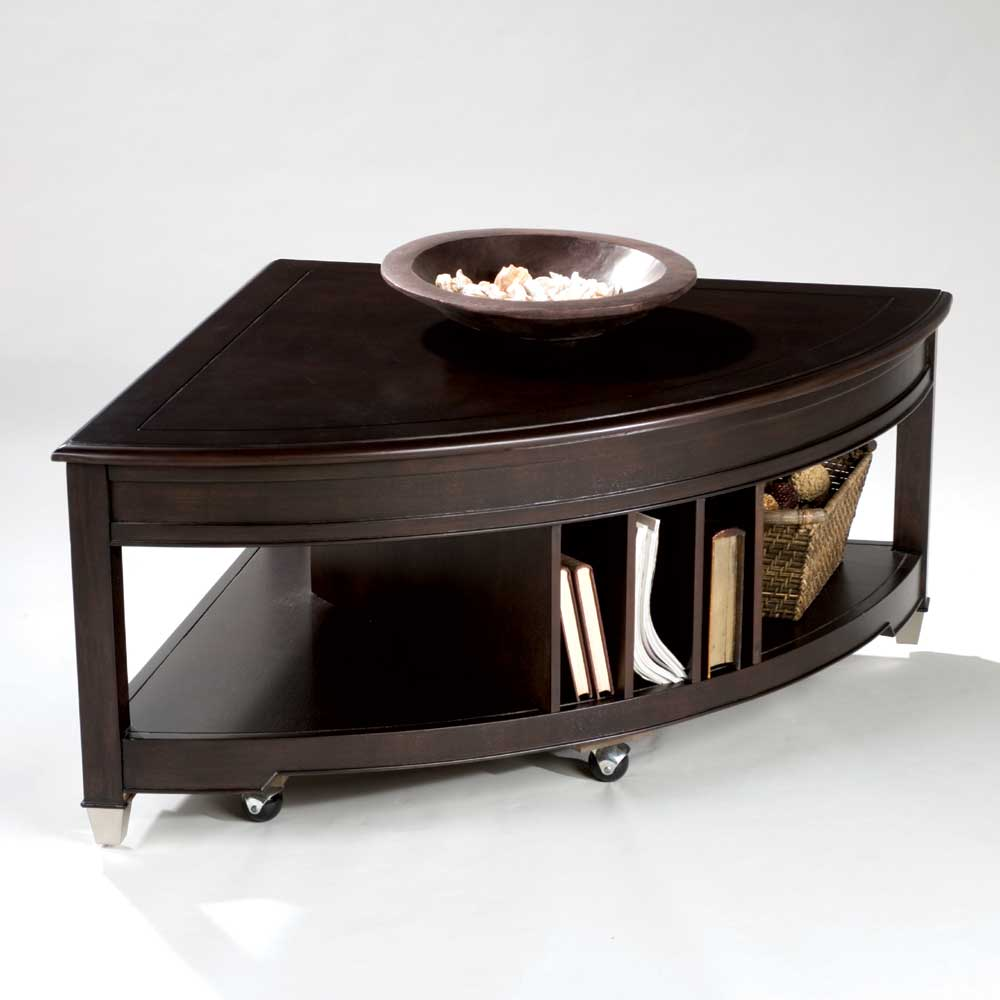 Darien Pie Shaped Lift Top Cocktail Table by Magnussen Home at Baer's Furniture