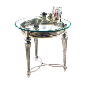 Magnussen Home Galloway Round End Table