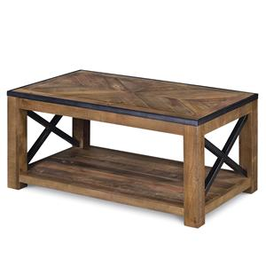 Small Rectangular Cocktail Table (w/ caste