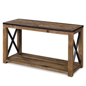Rectangular Sofa Table with X Cross Stretchers