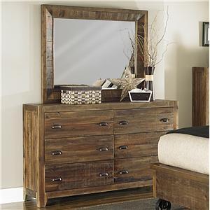 Magnussen Home  River Ridge Dresser and Mirror Combo