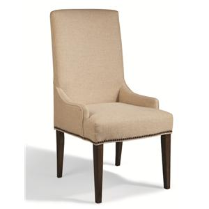 Tall Upholstered Chair with Nailhead Studs