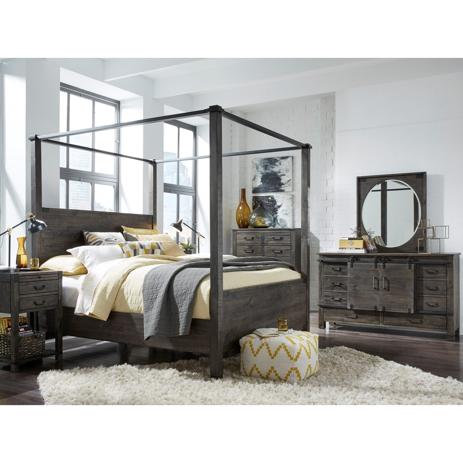 Abington King Bedroom Group by Magnussen Home at Stoney Creek Furniture