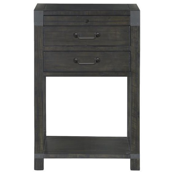Abington 2 Drawer Open Nightstand by Magnussen Home at Value City Furniture