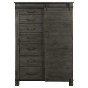 7 Drawer Door Chest with Adjustable Shelves