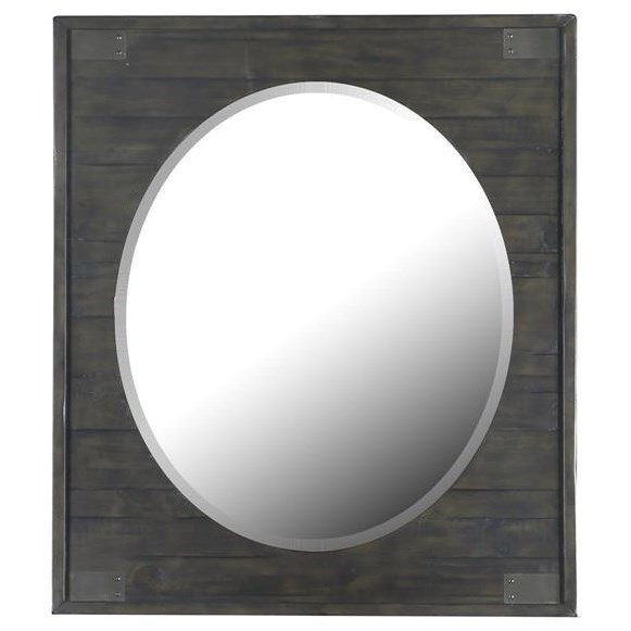 Abington Portrait Oval Mirror by Magnussen Home at Dunk & Bright Furniture