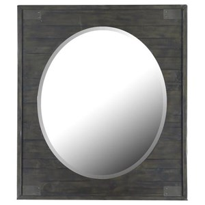 Portrait Oval Mirror with Wood Frame