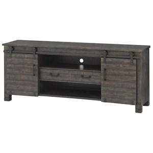 Transitional TV Console with Sliding Doors
