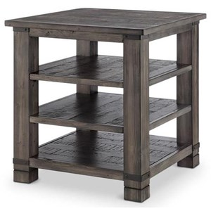 Weathered Grey Square End Table