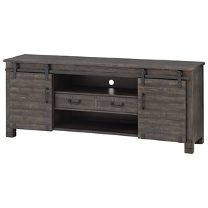 Transitional Solid Wood Console with Wire Management