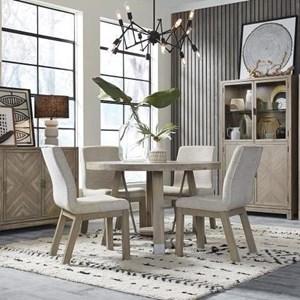 Rustic Industrial 5-Piece Dining Set