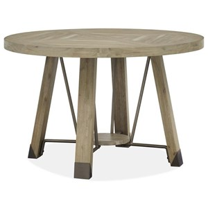 Rustic Industrial Round Dining Table