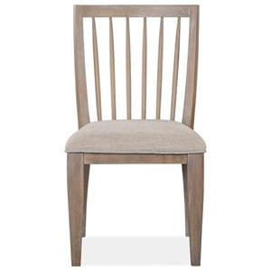 Rustic Slat Back Dining Side Chair