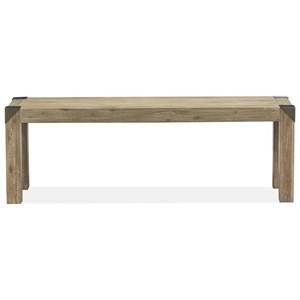 Rustic Industrial Dining Bench
