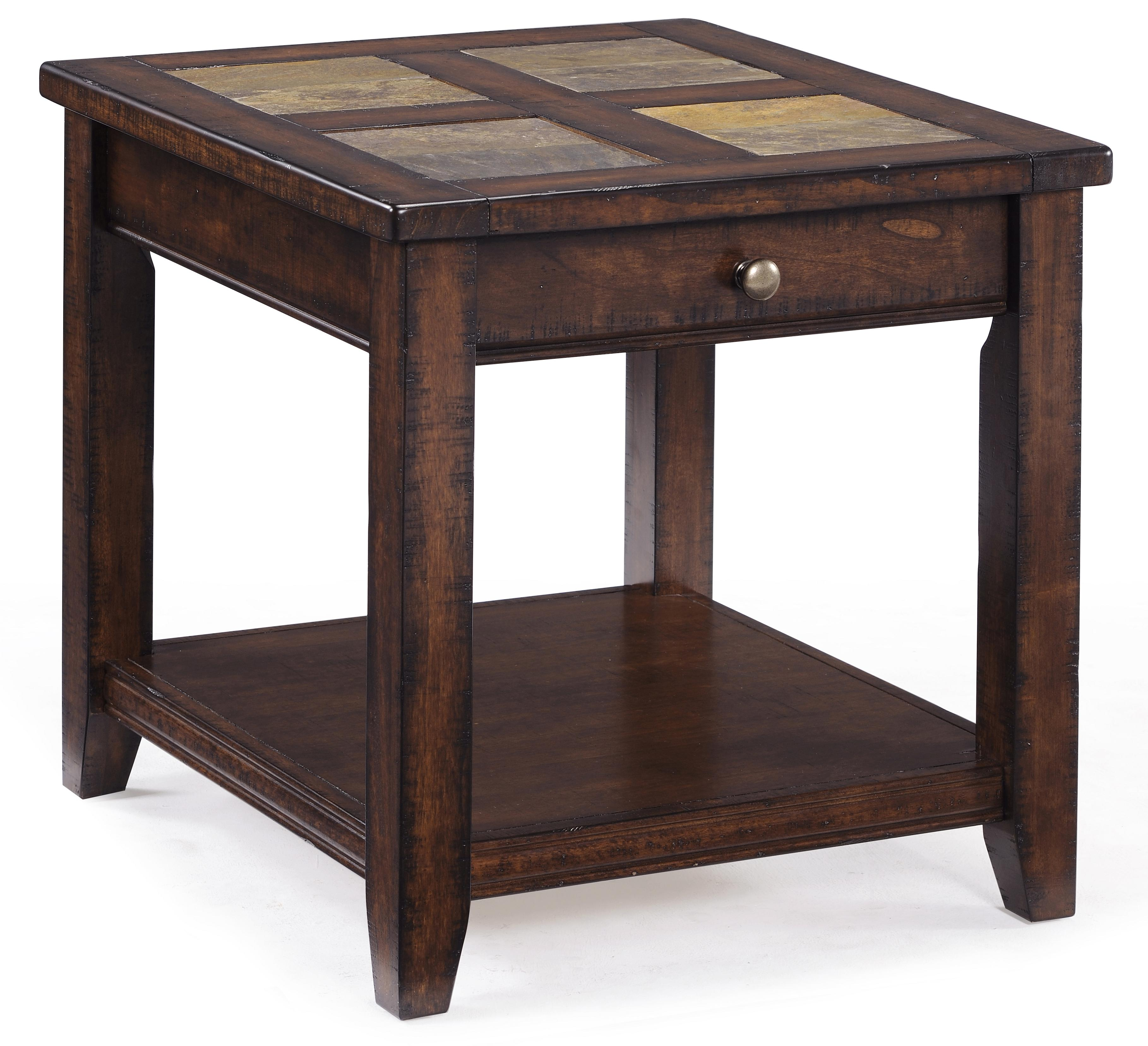 Allister Rectangular End Table by Magnussen Home at Baer's Furniture