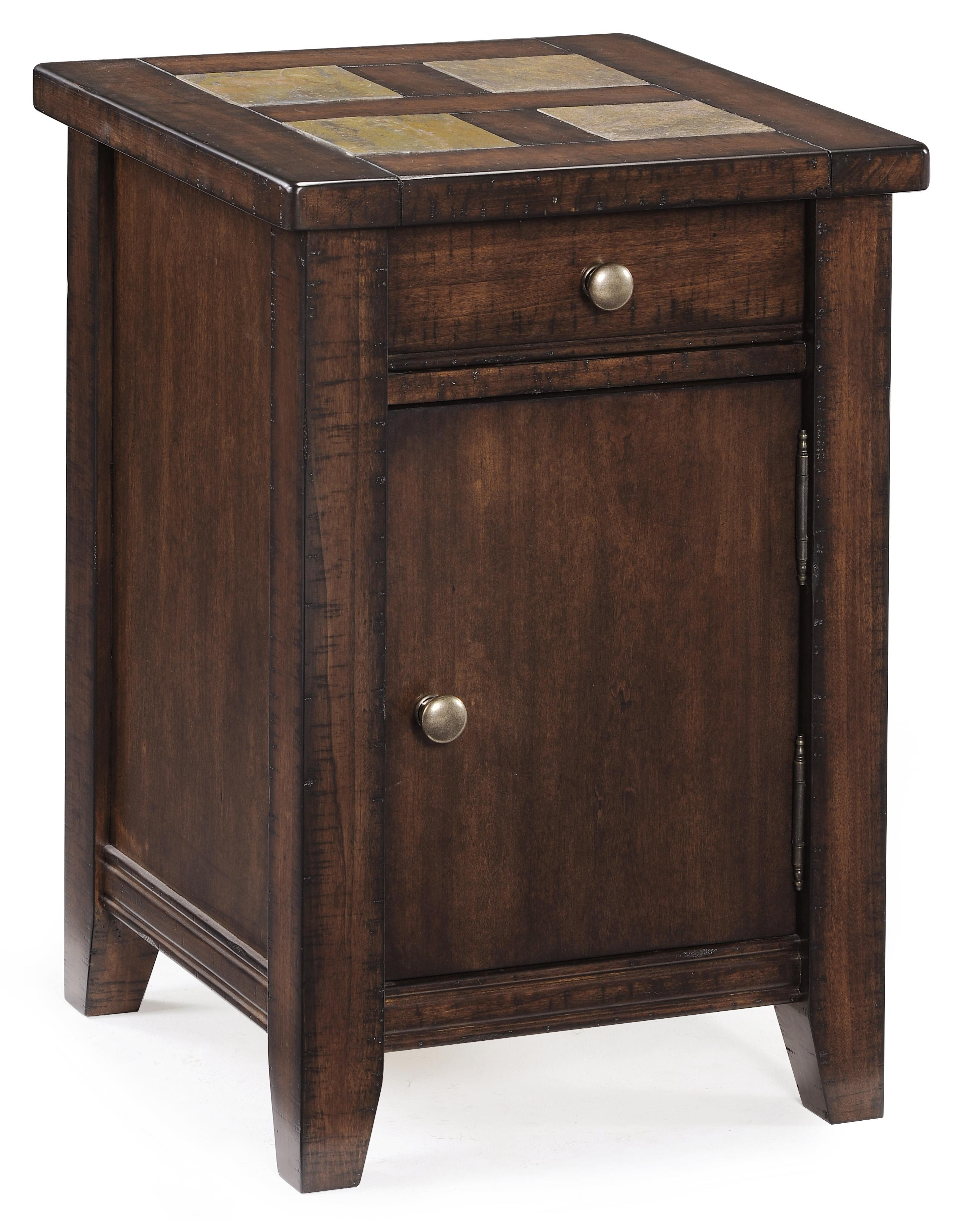 Allister Square Accent Cabinet by Magnussen Home at Baer's Furniture