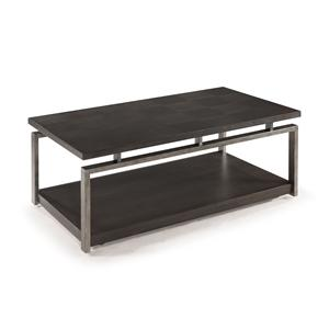 Contemporary Rectangular Cocktail Table with Casters